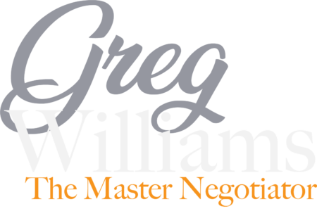 Greg Williams, The Master Negotiator Logo