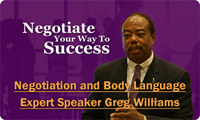 Negotiation and Body Language Expert Speaker Greg Williams